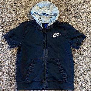 Nike short sleeve zip up hoodie